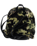 C.C Women's Faux Fur Fuzzy Backpack Schoolbag Shoulder Bag Purse, Camouflage