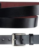 Eurosport Men's Bonded Leather Cut-To-Fit Classic Belt with Metal Square Buckle, FDL018