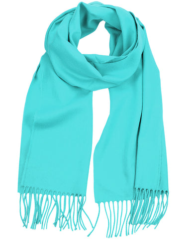 D&Y Unisex Classic Softer Than Cashmere Plain Fringe End Scarf
