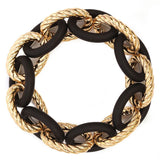 Women's Braided and Smooth Link Fashion Stretch Bracelet