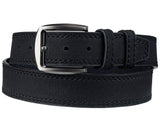 Eurosport Men's Textures Bonded Leather Stitched Edge Cut-To-Fit Belt with Square Buckle