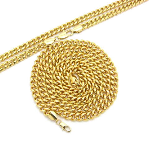 "Hip-Hop Style Rapper's 8 mm 30"" & 36"" Cuban Chain Necklace Set, Gold-Tone"