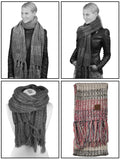 C.C Women's Long Multicolored Warm Cable Knit Shawl Wrap Tassel Scarf