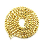 Gold-Tone Men's 10mm Miami Cuban Link Chain Necklace with Box Clasp