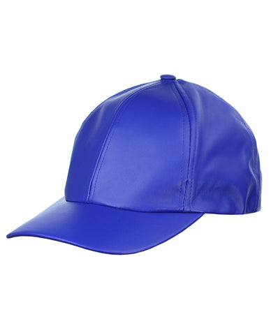 NYFASHION101 Unisex Soft PU Leather Precurved Baseball Cap