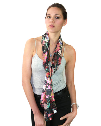 NYFASHION101 Women's Versatile Floral Inspired Sheer Headwrap Scarf New on Amazon