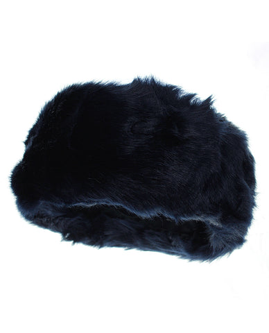 NYfashion101 Women's Inner Fleece Lined Faux Fur Ear Warmer Winter Headband - Navy