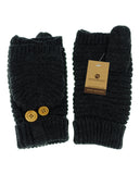 NYfashion101 Exclusive Unisex Ribbed Convertible Flip Winter Cuff Mittens