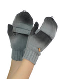 NYfashion101 Exclusive Unisex Two Tone Convertible Flip Glove Mittens