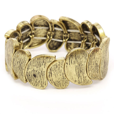 Women's Wavy Textured Fashion Stretch Bracelet