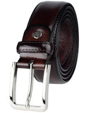 Eurosport Men's Polished Bonded Leather Cut-To-Fit Belt with Metal Square Buckle, GL087