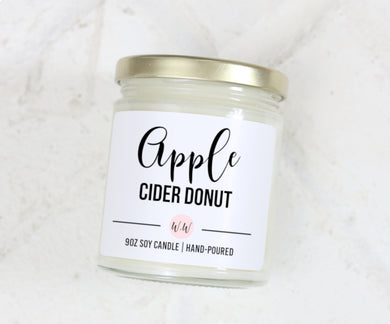 Apple Cider Donut - Scented Soy Candle