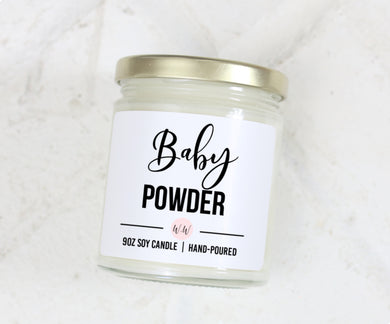 Baby Powder - Scented Soy Candle