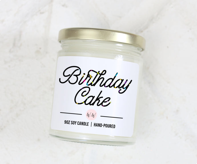 Birthday Cake - Scented Soy Candle