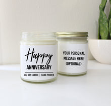 Load image into Gallery viewer, Happy Anniversary Personalized Custom Scented Soy Candle Anniversary Gift …