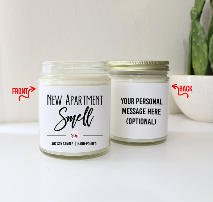 Housewarming Gift Soy Candle - New Apartment Smell