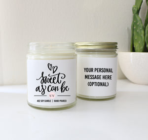 sweet as can be soy candle valentine's day gift