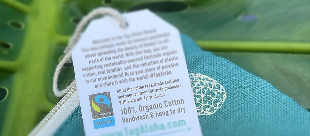 Tag Aloha Co. spotlighted in Fairtrade America's guides to Fairtrade labeling