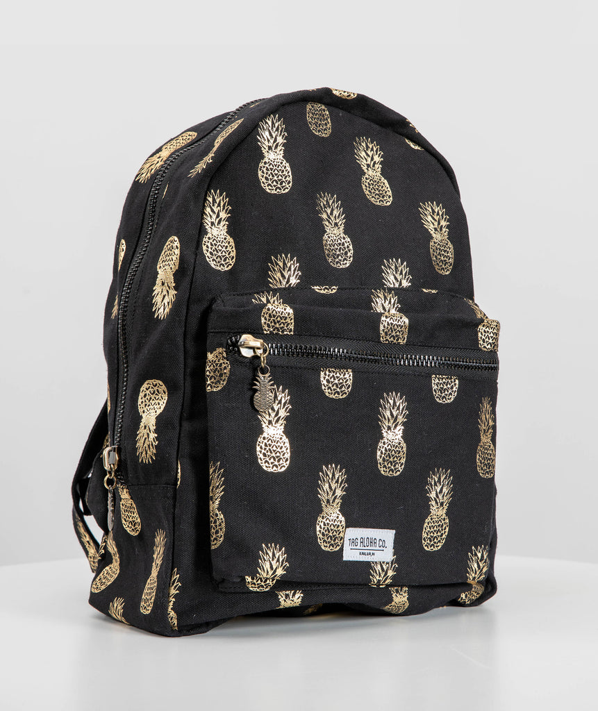 Hawaiian Backpack - Hawaii Gold Pineapple print