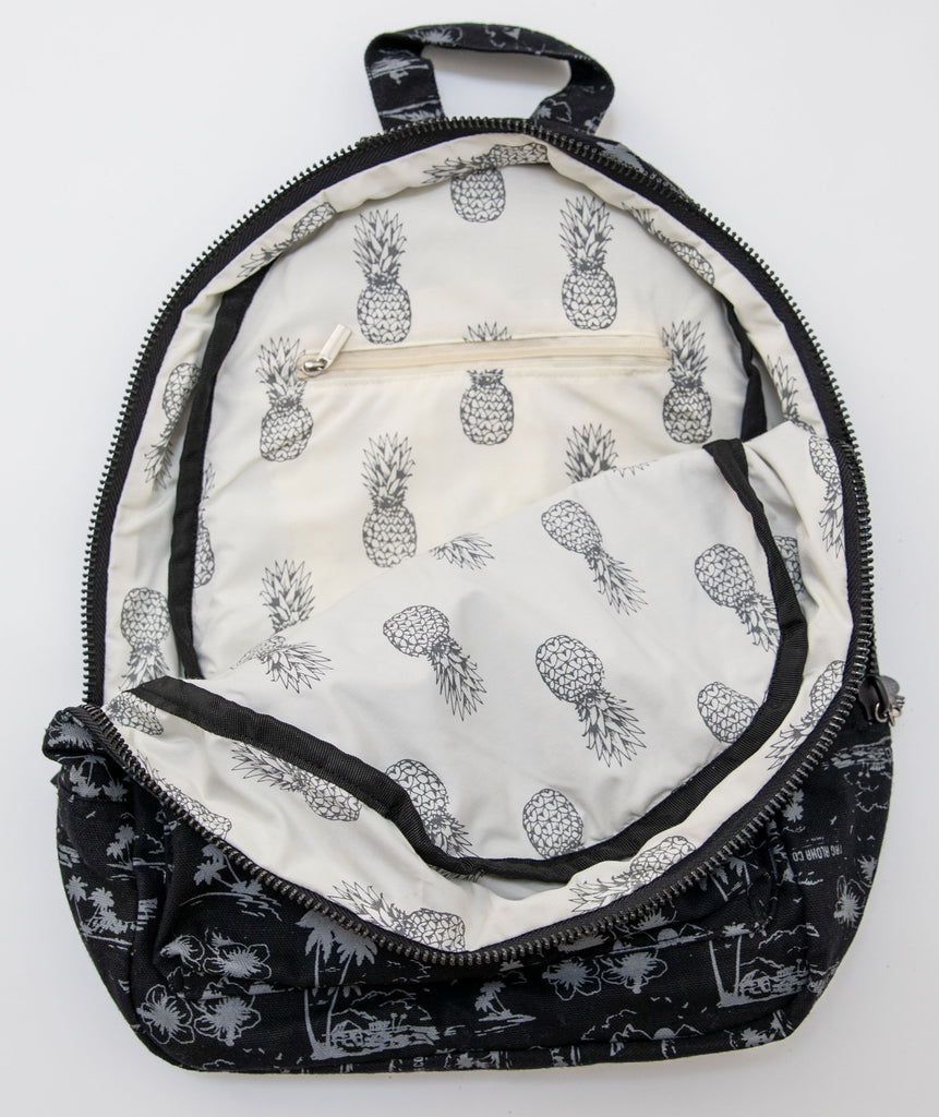 Hawaiian Backpack- Pineapple inside print