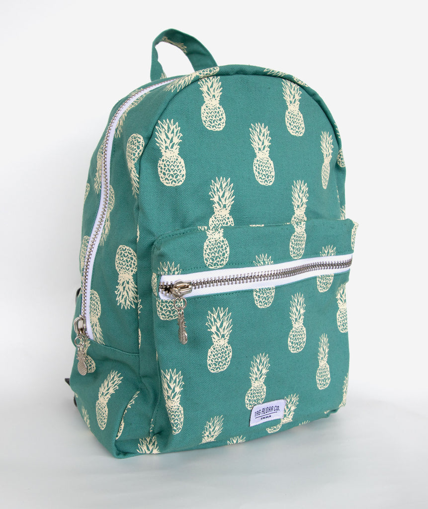 Hawaiian Backpack- Mini Pineapple print