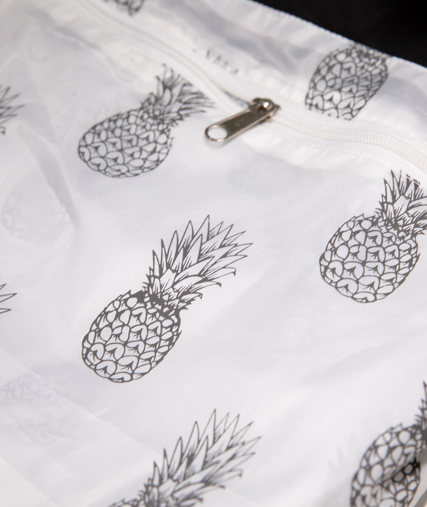 Waterproof Beach tote - Pineapple waterproof inside liner