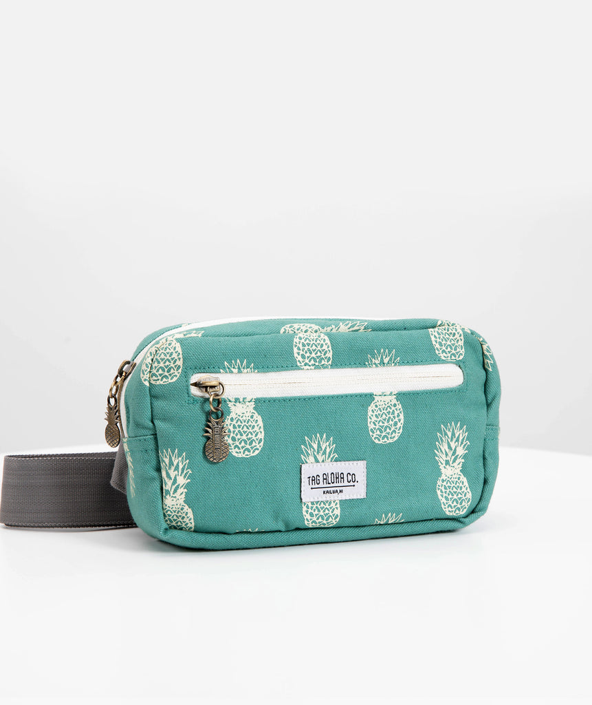 Teal Pineapple Beach Bum Bag