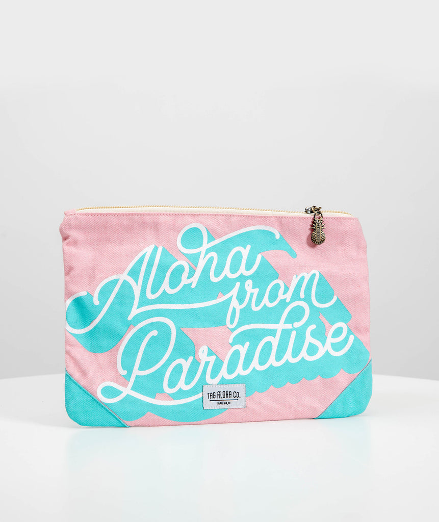 Hawaiian clutch tote - Aloha from Paradise