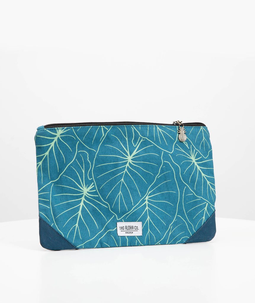 Hawaiian Clutch bag - Hawaii Kalo leaf print