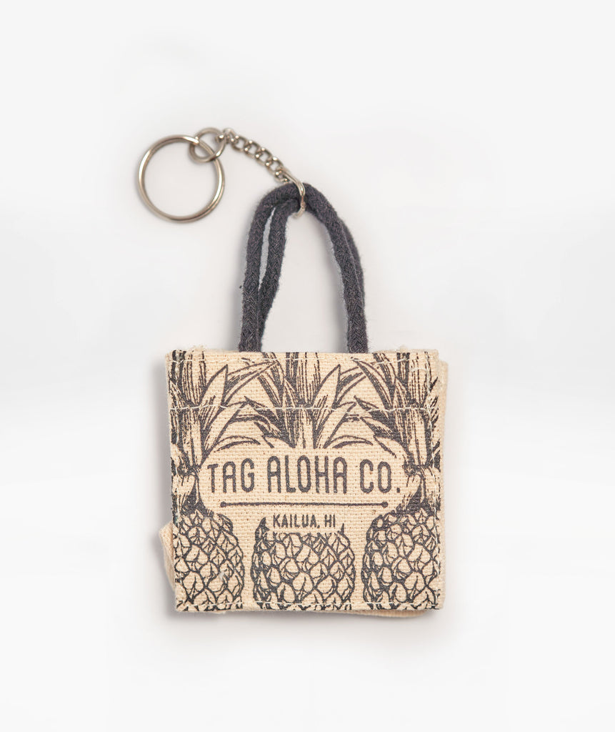 Hawaiian Keychain tote - Mini Pineapples