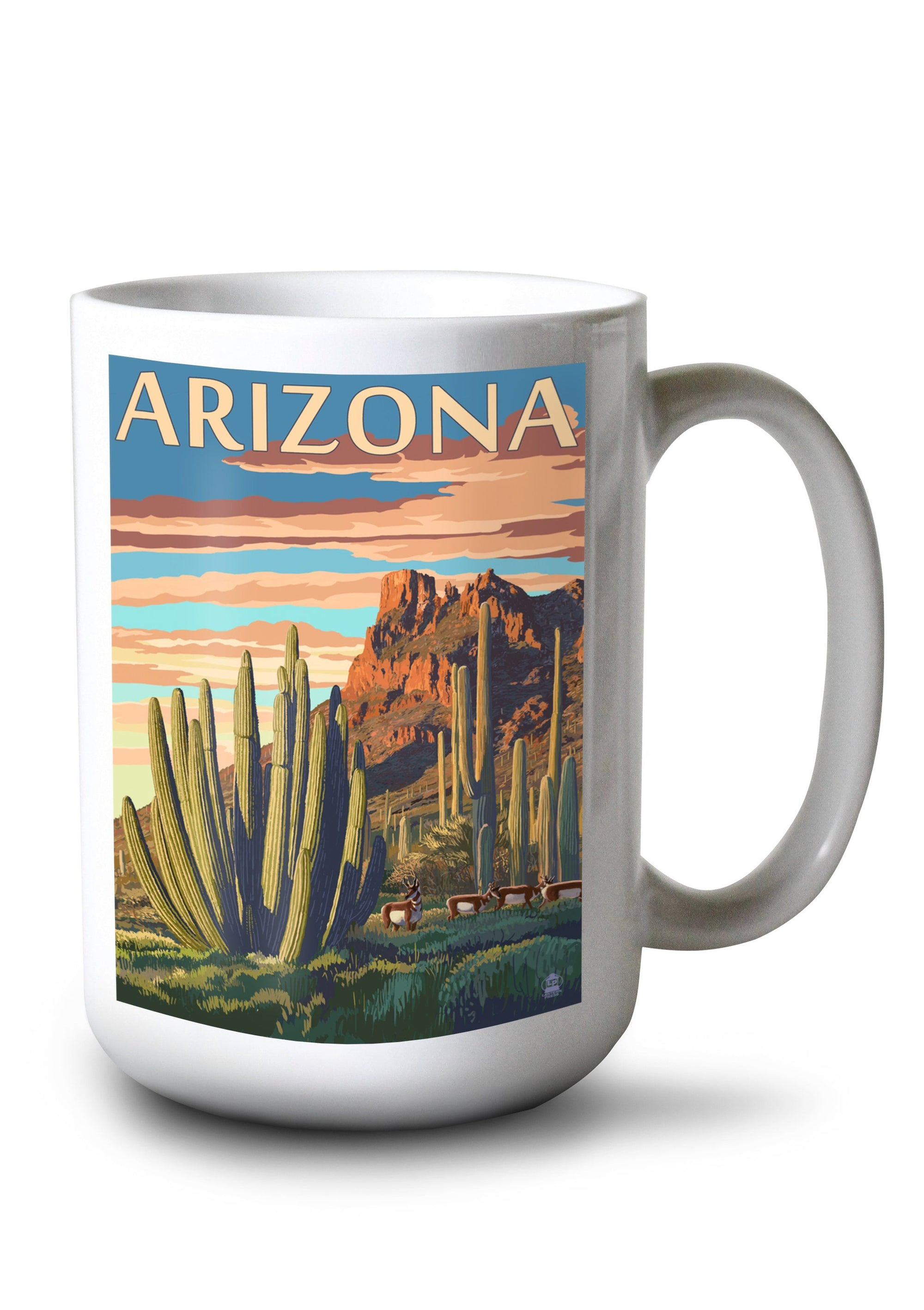 Mug (Arizona, Organ Pipe Cactus, Lantern Press Artwork) Lifestyle-Mug Lantern Press