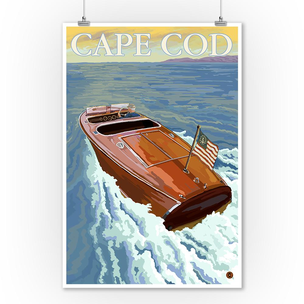 Prints (Cape Cod, Massachusetts, Wooden Boat, Lantern Press Artwork) Art Lantern Press