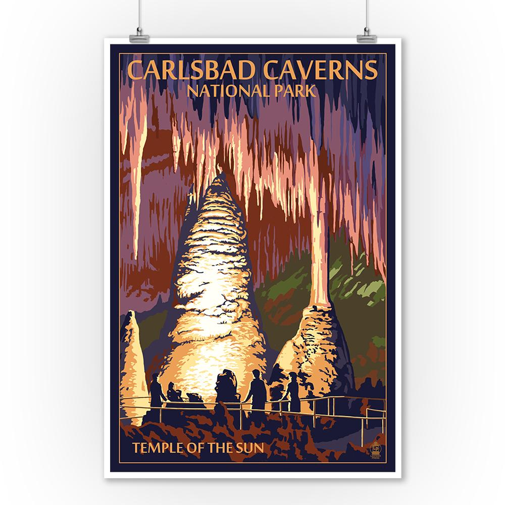 Prints (Carlsbad Caverns National Park, New Mexico, Temple of the Sun, Painterly Series, Lantern Press Artwork) Decor-Prints Lantern Press