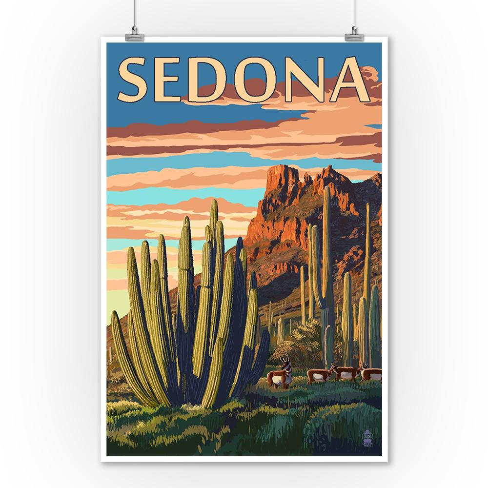 Prints (Sedona, Arizona, Organ Pipe Cactus, Lantern Press Artwork) Decor-Prints Lantern Press