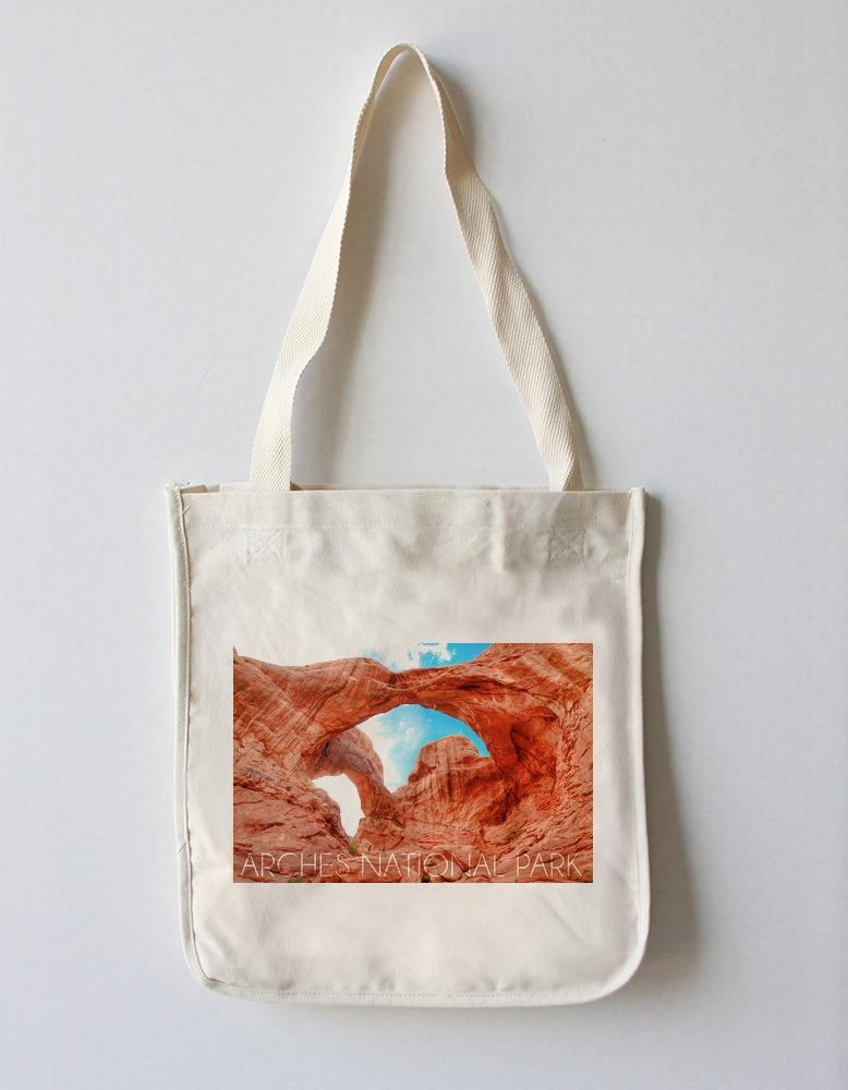 Tote Bag (Arches National Park, Utah - Daytime Blue Sky - Lantern Press Photography) Tote Bag Nightingale Boutique Tote Bag