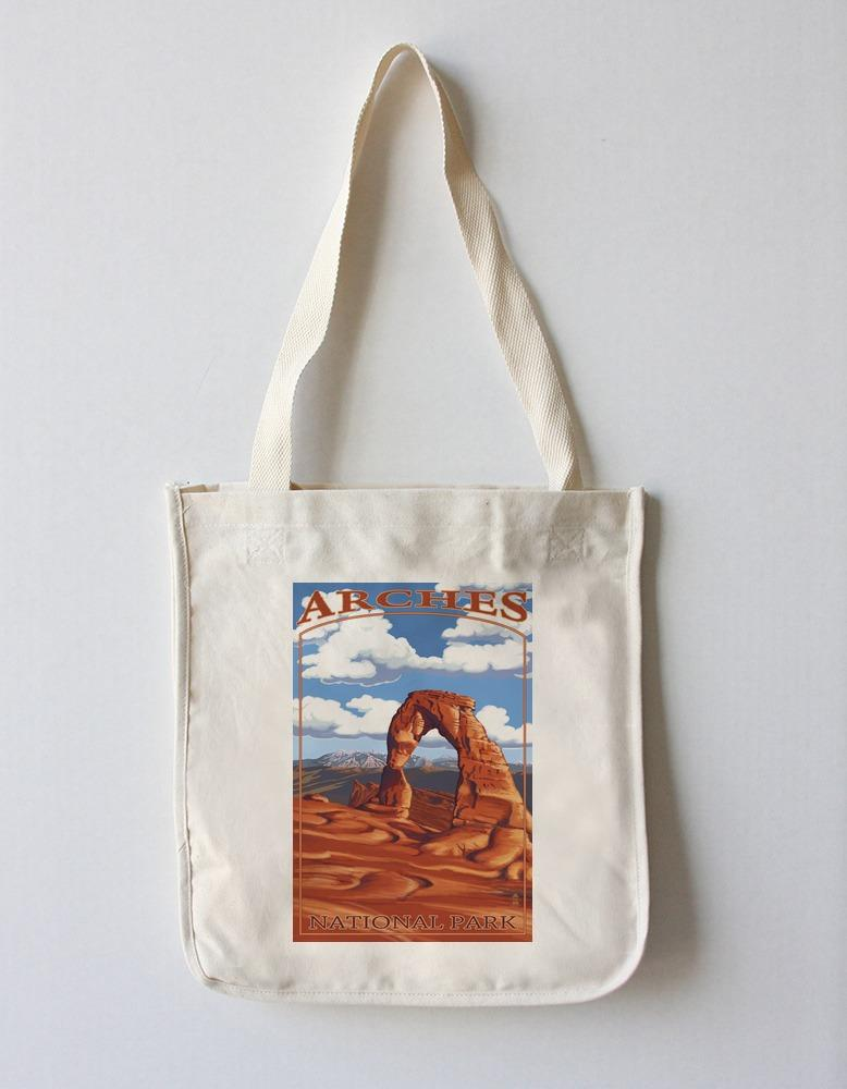 Tote Bag (Arches National Park, Utah - Delicate Arch - Day Scene - Lantern Press Artwork) Tote Bag Nightingale Boutique Tote Bag
