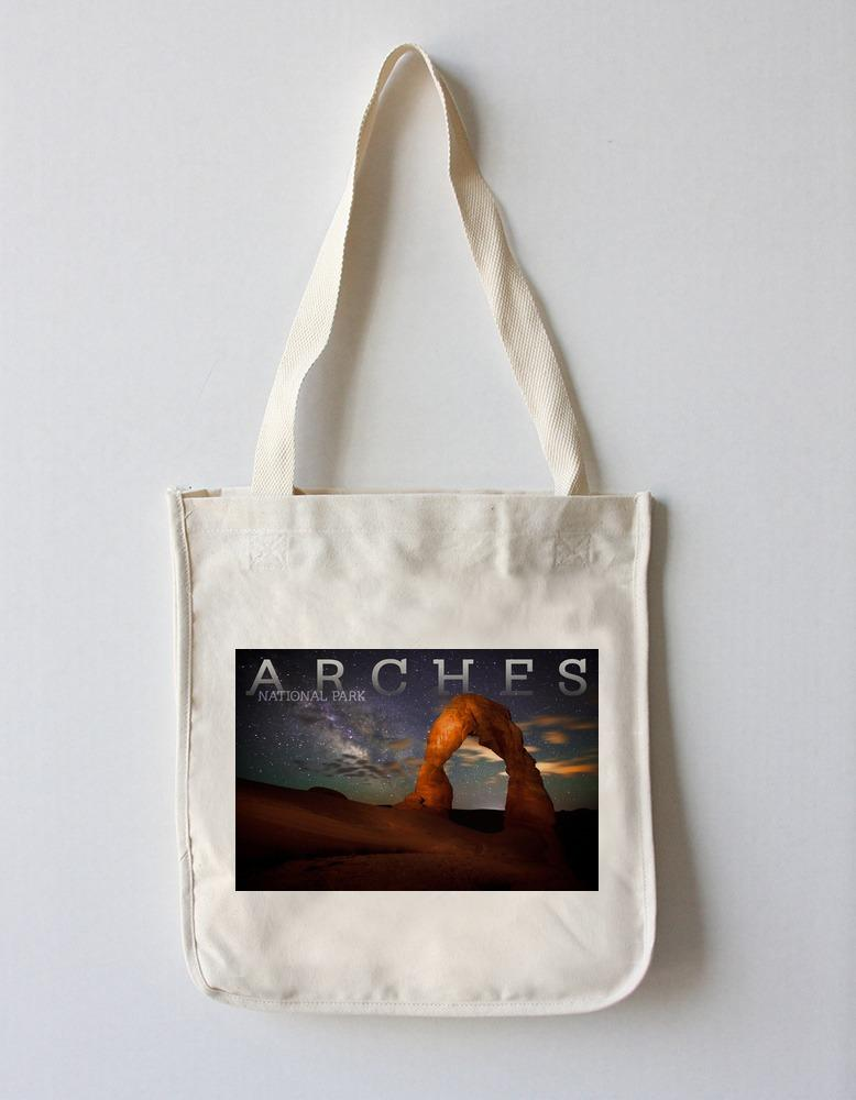 Tote Bag (Arches National Park, Utah - Delicate Arch - Lantern Press Photography ) Tote Bag Nightingale Boutique Tote Bag