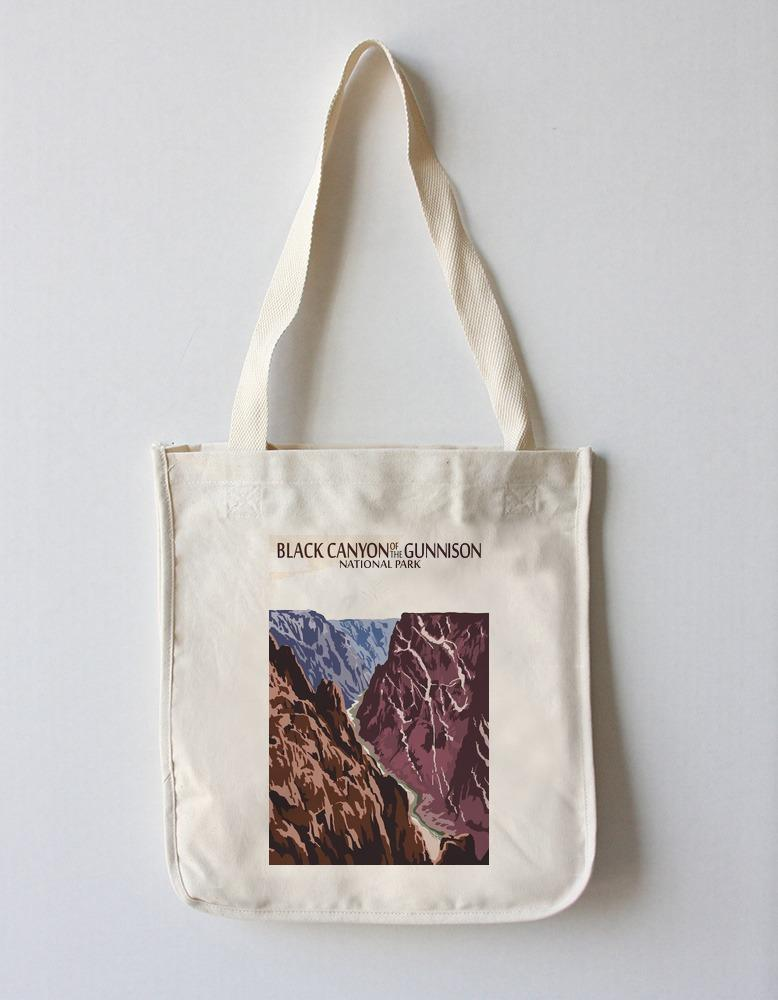 Tote Bag (Black Canyon of the Gunnison National Park, Colorado - River & Cliffs - Lantern Press Artwork) Tote Bag Nightingale Boutique Tote Bag