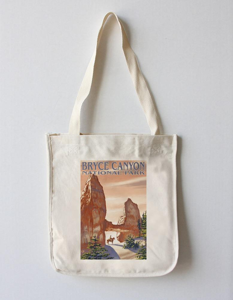 Tote Bag (Bryce Canyon National Park, Utah - Tower Bridge - Lantern Press Artwork) Tote Bag Nightingale Boutique Tote Bag
