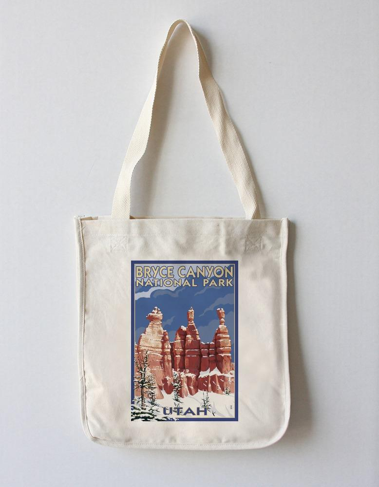 Tote Bag (Bryce Canyon National Park, Utah - Winter Scene #2 - Lantern Press Artwork) Tote Bag Nightingale Boutique Tote Bag