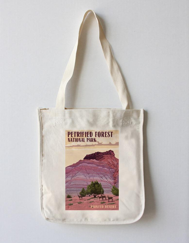 Tote Bag (Petrified Forest National Park, Arizona - Painted Desert - Lantern Press Artwork) Tote Bag Nightingale Boutique Tote Bag