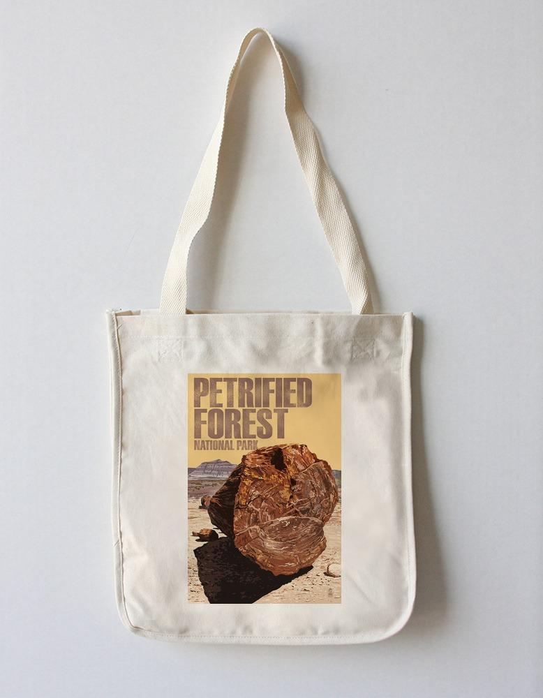 Tote Bag (Petrified Forest National Park, Arizona - Petrified Wood Close Up - Lantern Press Artwork) Tote Bag Nightingale Boutique Tote Bag