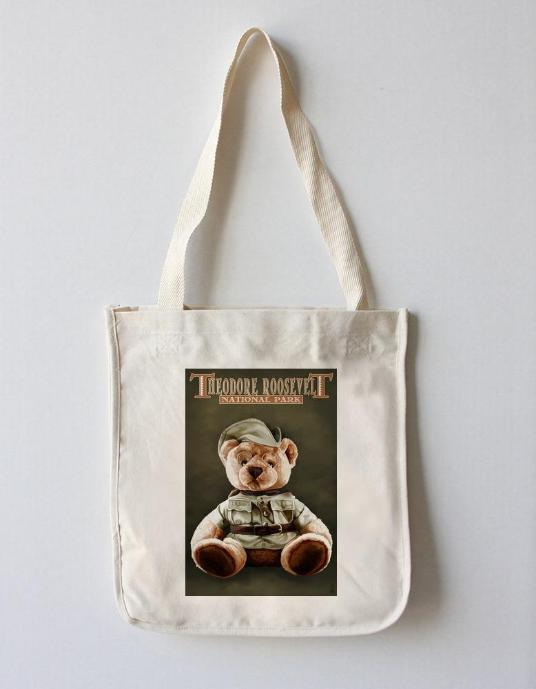 Tote Bag (Theodore Roosevelt National Park - Teddy Bear - Lantern Press Artwork) Tote Bag Nightingale Boutique Tote Bag