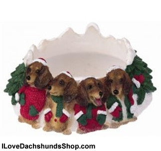 Dachshund Candle Holder - Red