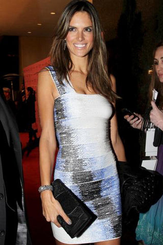 Alessandra Ambrosio Khirma New York Black Babo Clutch in Lizard & Stingray