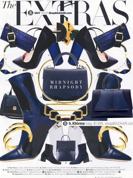 Katy Perry Harper's Bazaar Fall Navy Exotic Skin Python Handbag Oxy Satchel