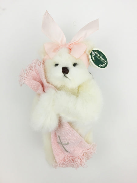 Bearington Collection Christianing Bear Pink