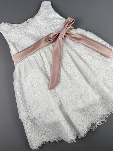 Dress 51 Girls Baptismal Christening Sleeveless 3pc  Dress , matching Bolero and Hat. Made in Greece exclusively for Rosies Collections.