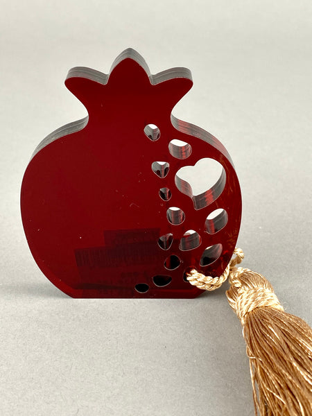 Large Freestanding Pomegranate with Tassel