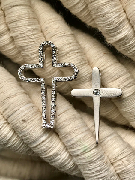 White Gold Cross 44